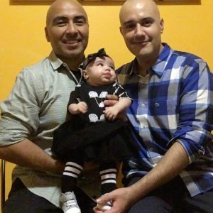Marco and Jimmie Chavez-Lopez with baby Marisela.