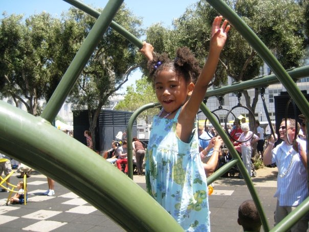 child playing in OFC's Family Garden at 2009 SF LGBTQ Pride