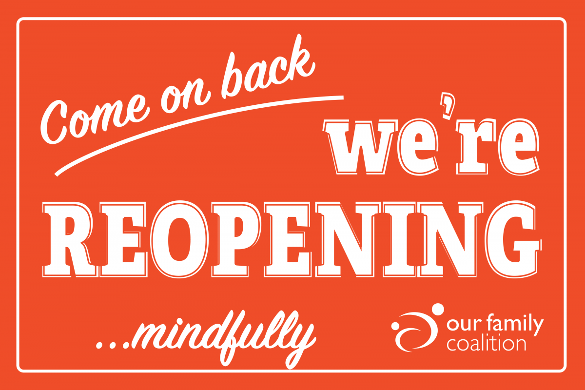 """""""come on back: we're reopening... mindfully"""""""