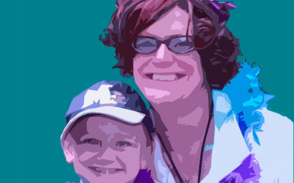 graphic of parent and child smiling brilliantly