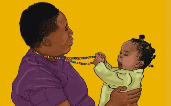 graphic of parent and infant